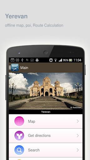 Yerevan Map offline