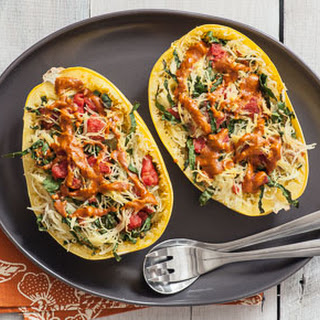 Roasted Spaghetti Squash with Almond Curry.