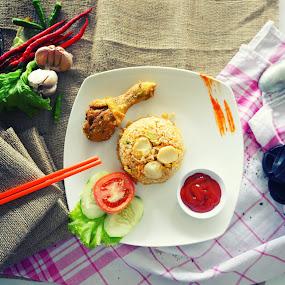 NASI GORENG AYAM by Muhammad Fadhil - Food & Drink Eating ( fo0d style, nasi goreng, fried rice, ayam, food style )