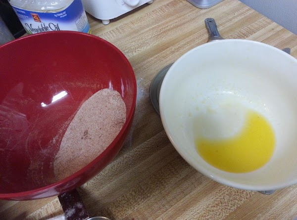 Topping: Melt butter in a bowl. In separate bowl mix cinnamon and sugar.  While still warm,...