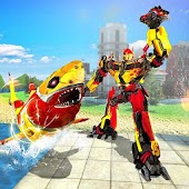 Underwater Shark Robot Hero Warrior Simulator War