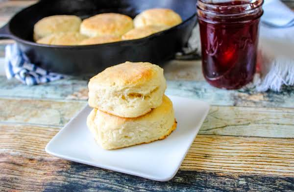 My Granny's Old-fashioned Biscuits On A Plate.