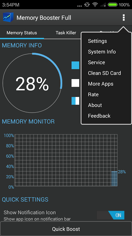 Memory Booster - RAM Optimizer - screenshot