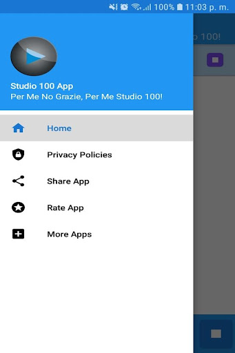 Studio 100 App Gratis Radio FM IT Free Online screenshots 2
