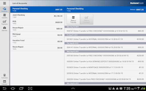Richland Bank Tablet