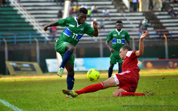 Photo: Abdulai Baggie  [Leone Stars v Seychelles, Freetown, 19 July 2014 (Pic: Darren McKinstry)]