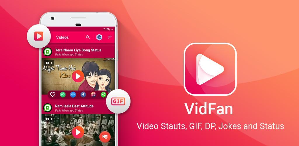 Download Vidfan Popular Gif Dp Video Status Jokes App Apk