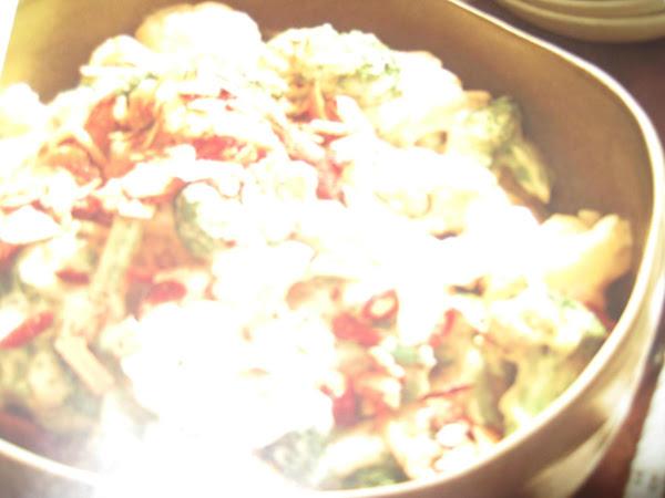 Cauliflower And Broccoli In Swiss Cheese Sause Recipe