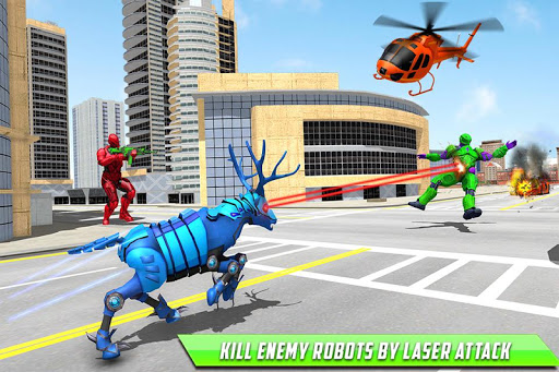 Deer Robot Car Game u2013 Robot Transforming Games apktram screenshots 6