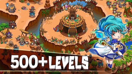 Crazy Defense Heroes Tower Defense Strategy TD 1.9.4 MOD (Unlimited Energy + Gold Coins + Diamonds) 2