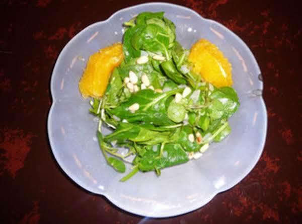 Spinach Salad In Fresh Orange Dressing