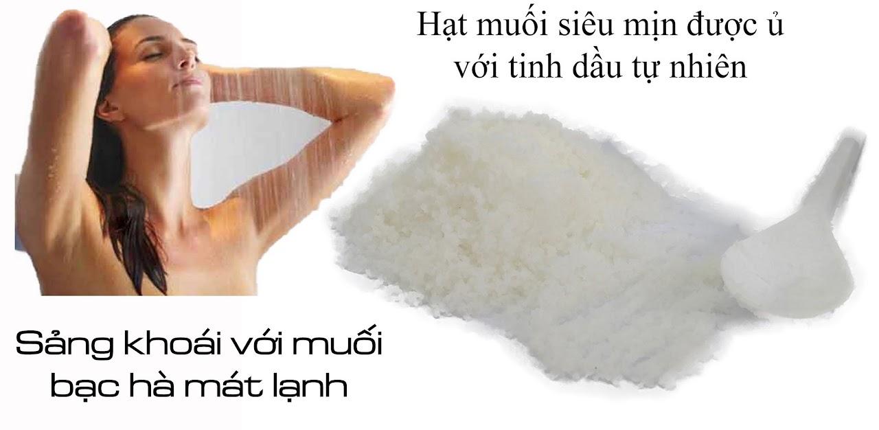Muối tắm tinh dầu bạc hà