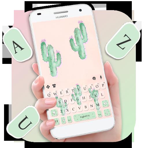 Cute Cartoon Cactus Keyboard Theme Icon