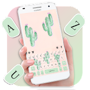 Free Download Cute Cartoon Cactus Keyboard Theme APK for Samsung