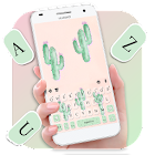 Cute Cartoon Cactus Tema de teclado icon
