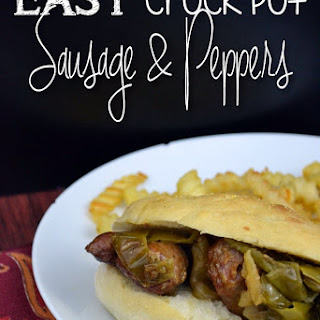 Easy Crock Pot Sausage & Peppers.