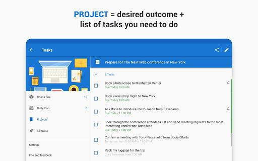 Chaos Control: GTD Organizer & Task List Manager screenshots apkspray 11