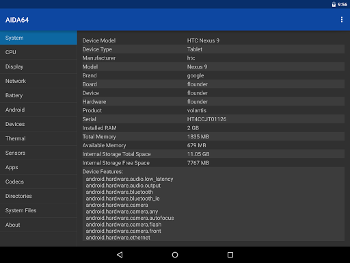 AIDA64 1.67 Apk for Android 9