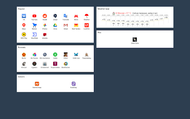 Start New Tab Page