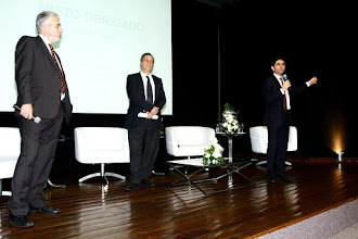 Photo: José Vidal (Lexbridge), Mario Lopes, sócio-diretor da Lopes, Machado Auditores e Ricardo Zanotelli