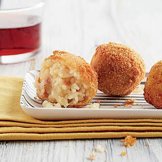 Prosciutto-and Provolone-stuffed Arancini.