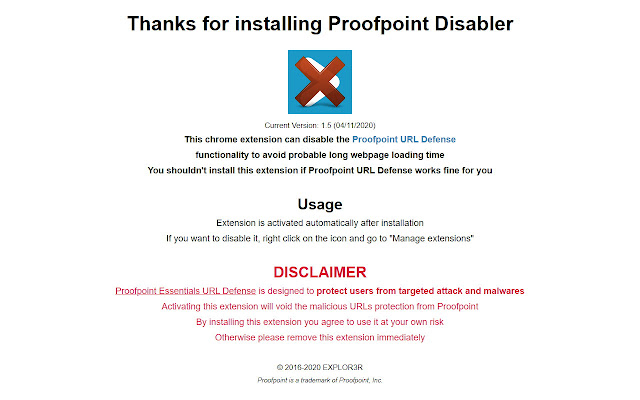 Proofpoint Disabler