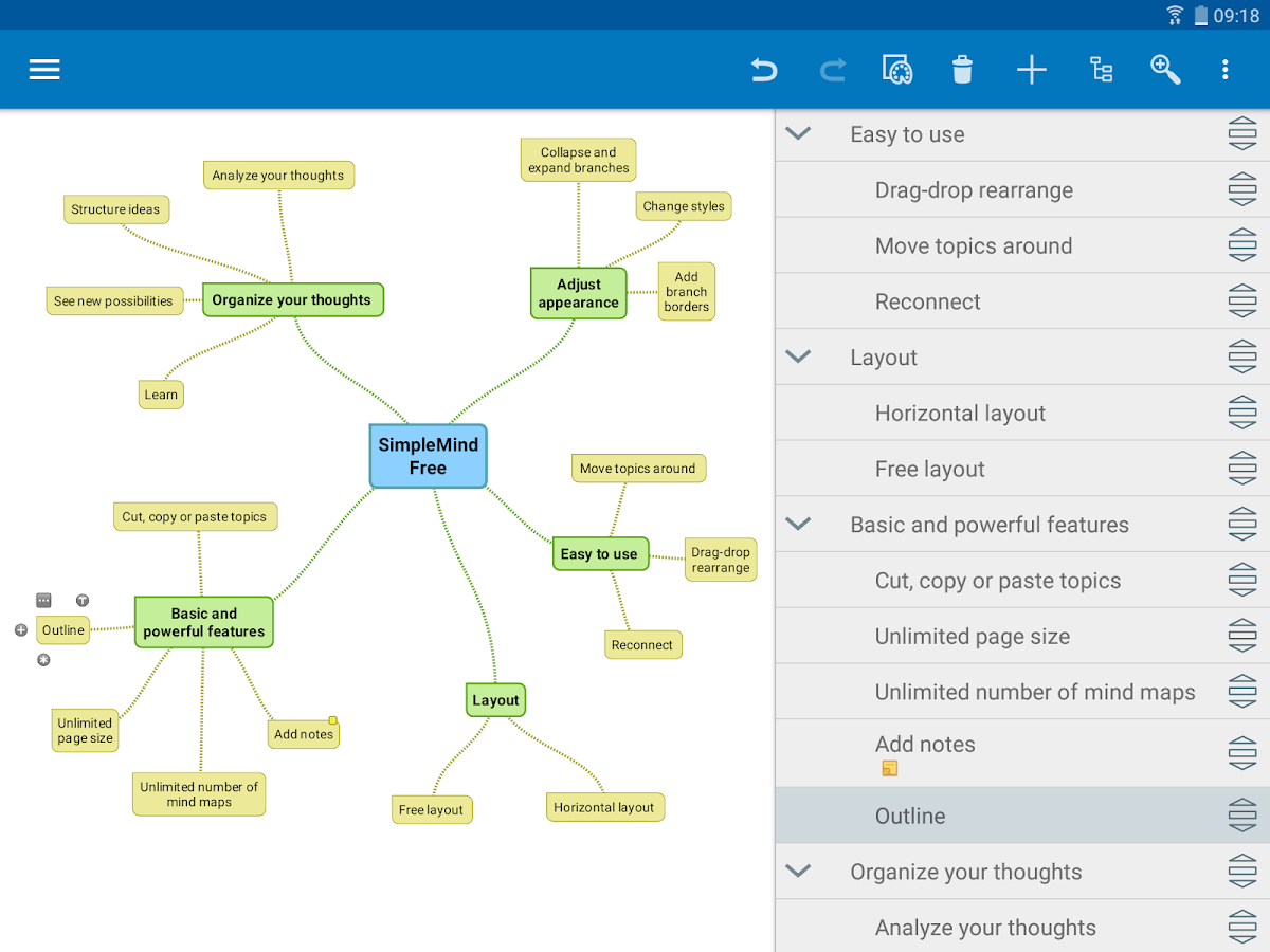 SimpleMind Free - Intuitive Mind Mapping- screenshot