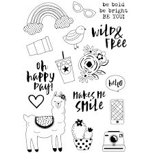 Simple Stories Oh Happy Day Clear Stamps 4X6 - Be You! UTGÅENDE