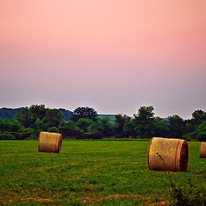 Hay Bales At Sunset.jpg