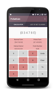 Pitch Class Set Calculator- screenshot thumbnail