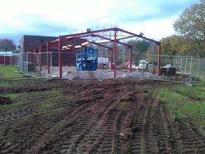 Photo: 8th Nov - Steel Framework Up