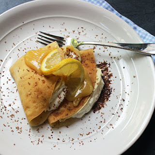 Chocolate Lemon Curd Crepes with Whipped Cream