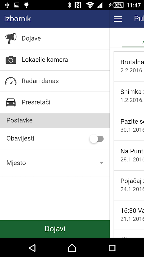 Policija zaustavlja- screenshot