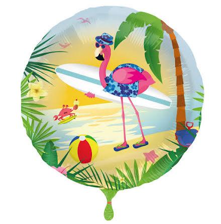 Folieballong, flamingo