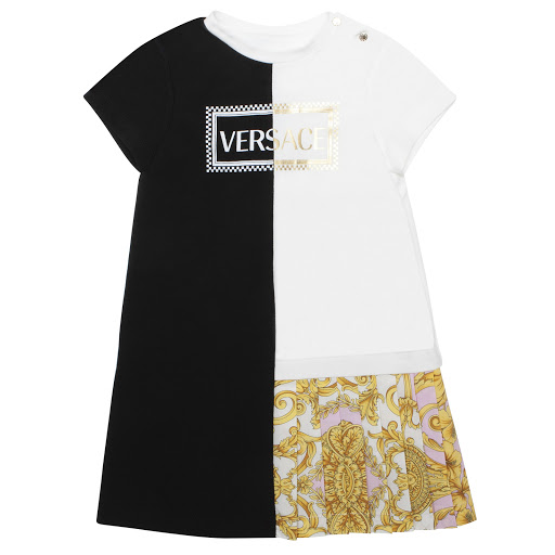 Primary image of Young Versace Two-Tone Dress