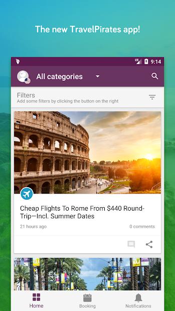 TravelPirates Top Travel Deals Android App Screenshot