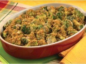 Cheesy Broccoli Casserole For Four Recipe