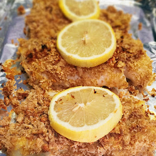 Baked Triscuit Crusted Cod