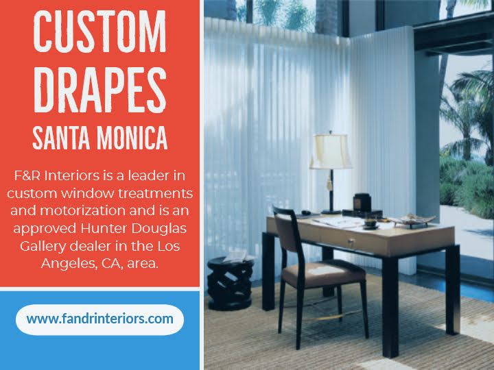 Custom drapes in Santa Monica