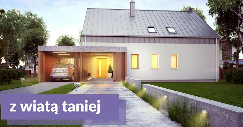 Projekty domów z wiatą garażową