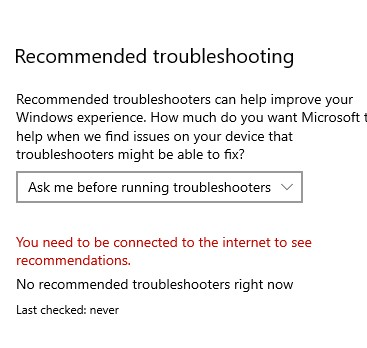 Windows troubleshooting