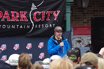 Photo: Then Ted finally grabbed the mic and reflected on his amazing season, and looking forward to Sochi in 10 months.