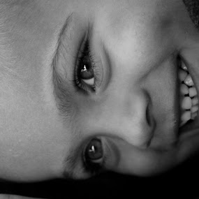Smile by Sarah Nelson - Babies & Children Children Candids ( alive-eyes, smiley, happyboy, toddler, black and white child )