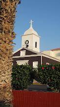 Photo: Iglesia de San Gerónimo y palmera de la Plaza de Armas