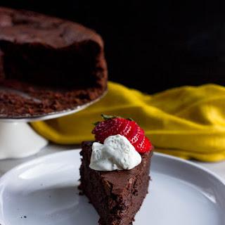 Baked Chocolate Mousse Cake.