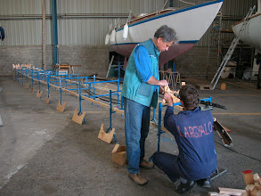 Photo: Supports for the mast glueing