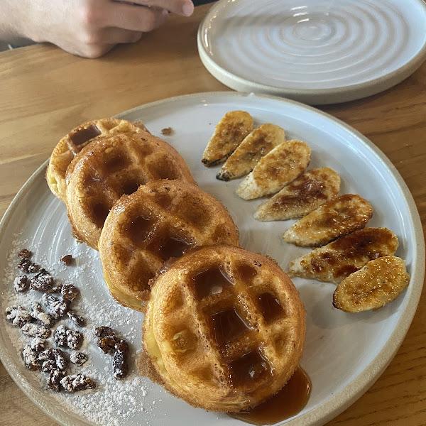 Gluten free salted caramel waffles!!!
