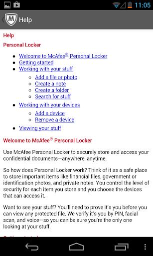 McAfee Personal Locker screenshot 4