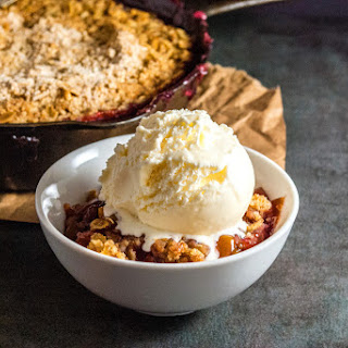 Pretty Peach and Cherry Crisp