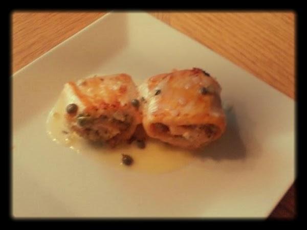 Stuffed Salmon Roll With Creamy Lemon Butter Sauce Recipe